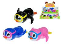 Tučniak s okuliarmi 13 cm plávacie vo vode na kľúčik - mix farieb