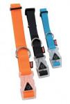 Obojok pes SILICONE svietiace modrá 25mm / 45-58cm Zolux