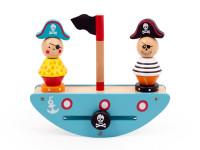 Pirátska loď - drevená montessori hra