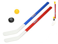Hokejka 71 cm 2 ks s míčkem a pukem