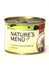 Schmusy Cat Nature Menu konzerva kura + losos 190g