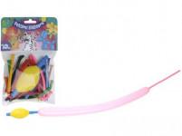 balóniky PÁRTY tvarovacie (10ks) s pumpičkou - mix farieb