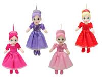 Panenka princezná handrová 35 cm - mix farieb