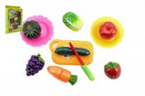 Ovocie a zelenina krájacie s náčiním plast 21x30 cm