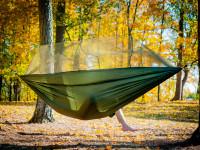 Ultraľahká cestovná hojdacia sieť s moskytiérou pre dvoch, Domestic