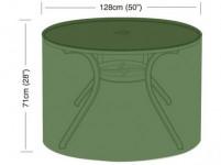 plachta krycia na okrúhly záhradný stôl pr.128x71cm, PE 90g / m2
