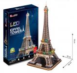 Puzzle 3D Eiffelova veža / ľad - 82 dielikov