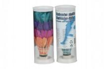 Loptičky / Košíčky na badminton perové farebné 4ks v tube