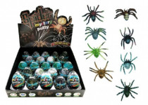 Sliz - hmota vajcia pavúk 7cm - mix variantov či farieb
