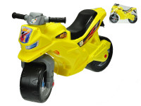 Motorka odrážadlo žlté 68x48x29 cm max. 30 kg