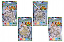 Slnečné dekorácie 3D nové motívy na karte 17x19cm - mix variantov či farieb