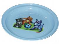 tanierik detský 20cm s potlačou plastový - mix farieb
