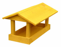 Krmítko č.10 dřevěné žluté