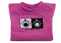 Dětské tričko Mayaka s krátkým rukávem A Hard Day´s Night - růžové Vhodné pro věk 2-3 roky - VÝPREDAJ