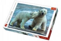 Puzzle Polárne Medvede 500 dielikov 48x34cm
