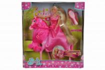 Bábika Steffi princezná na koni