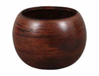 Obal na kvetináč MANES WOOD keramický hnedý matný d13x13cm