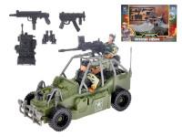 Auto vojenské 20 cm volný chod s vojáky a doplňky