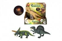Dinosaurus chodící plast 25cm na baterie se zvukem se světlem - mix variant či barev