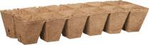 Rašelinový kontajner 6x6 cm - plató 12ks