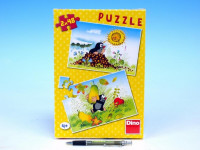 Puzzle Krtek Krtkův svět 26,4x18,1cm 2x48 dílků