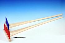 Hrable drevo / plast 90cm náradie - mix variantov či farieb