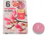 sviečka čajová vonná MAGNOLIA (6ks) (horí 6x3-4hod)