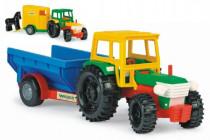 Traktor s vlečkami plast 38cm Wader - mix variantov či farieb