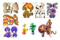 Puzzle 3D zvířata 3ks pěna 15x10cm - mix variant či barev