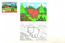 Maľovanky Moje prvé zvieratká lesné 21x14,5cm MPLZ