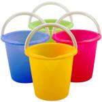 vědro 10l s výlevkou plastové - mix barev