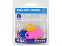 visačka na kľúče plastová, s krúžkom (5ks) - mix farieb