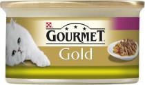 Gourmet Gold cat konz.-duš.a gril.k.králík a pečeň 85 g