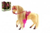 Kôň s hrivou česacia s doplnkami plast 28cm - mix farieb