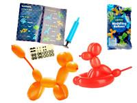 Balónky na tvoření zvířátek 12 ks s pumpou a samolepkami