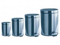 kôš odpadkový nášlap.5l, 12l, 20l + 3l ZADARMO guľatý nerez, s vložkou plastový