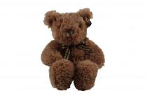 Medvídek s kostkovanou mašlí