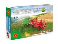 Farmar traktor s prívesom-malý konštruktér