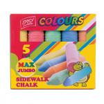 Easy Colours chodníkové křídy MAX Jumbo barevné 5 ks