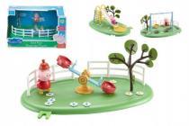 Herní prvky hřiště + figurka Prasátko Peppa plast - mix variant či barev - VÝPREDAJ