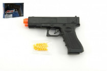 Pištoľ so zásobníkom na guličky 17cm plast + guličky