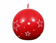 Sviečka BIELE HVIEZDY GUĽA vianočné lakovaná d8cm