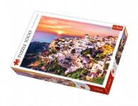 Puzzle Západ slnka na Santorini 1000 dielikov