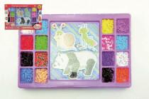 Zažehľovacie mozaika 2000ks podložka 3ks plast