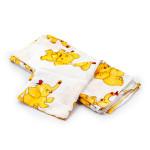 Dětská plena 70x80 cm, tetrová, žlutá se slonem, 5 ks, Cuculo