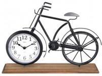 hodiny stolní KOLO 42x7,5x28,5cm dřevo/kov ČER