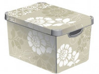 box úložný ROMANCE 39,5x29,5x25,0cm (L) s vekom, plastový