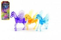 Poník kůň s křídly 7cm 3ks plast na kartě