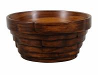 Miska BONSAI WOOD keramická matná tmavo hnedá d18x9cm
