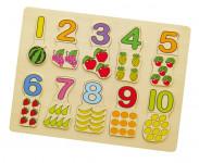 Vkládačka čísla + ovoce